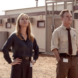 Faces of authority: Asher Keddie and Darren Gilshenan in Stateless.