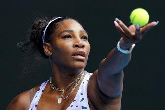 Serena Williams was always in control against Anastasia Potapova in their first-round match on Monday.