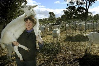 Goat farmer and voluntary nest box checker Ann-Marie Monda.