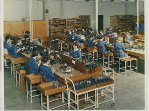 A 'cameras, reels and sundries' assembly line at Kodak's Coburg factory circa 1963.