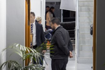 Police search the house of alleged ISIS member Joseph Saadieh.