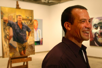 Beloved colleague: Michael Mucci with his award-winning portrait of Scott Cam in 2006.