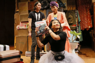 Charles Wu, Diana Lin and Michele Lim Davidson in Benjamin Law's Torch The Place.