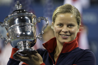 Kim Clijsters, pictured here after winning the 2009 US Open, is eyeing a 2020 comeback.