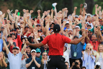 Tiger Woods completes an astonishing comeback to take out the US Masters last year.