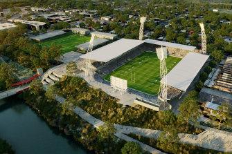 Ipswich planning new stadium as centrepiece of Jets' NRL bid