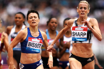 Bisset takes the silver medal in the 800 metres behind Great Britain's Lynsey Sharp in London at the Diamond League meet last month.