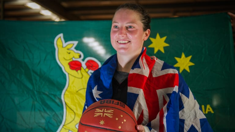 American-born Canberra Capitals forward Kelsey Griffin first played for the Opals in 2017.