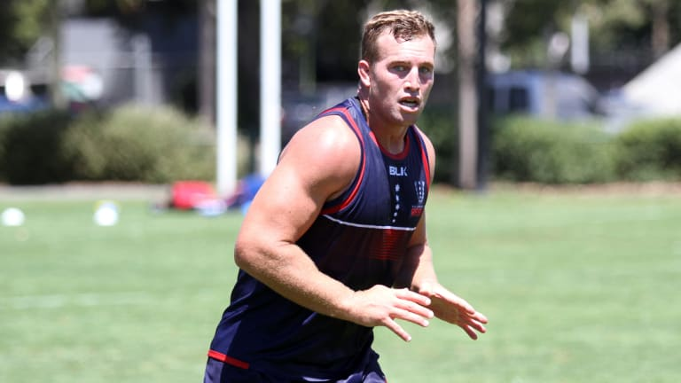 Newcomer: Melbourne Rebels back-rower Angus Cottrell has been named in his first Wallabies squad.