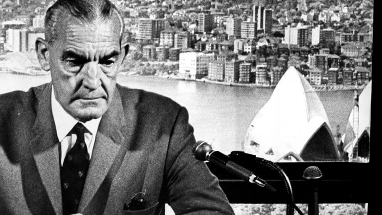 NSW minister for public works William Davis Hughes in 1968.