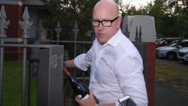 One of Andrew Thorburn's friends had a bottle of wine for the outgoing CEO.