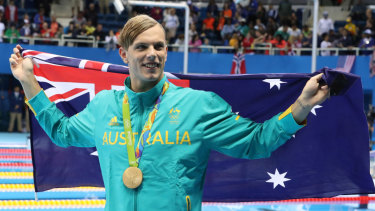 Living in reverse: Kyle Chalmers was just 17 when he won Olympic gold in Rio.