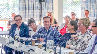Barbara Leadbetter (left) was among witnesses to call on the government to legalise voluntary euthanasia at a hearing in Caloundra on Friday, May 3, 2019.