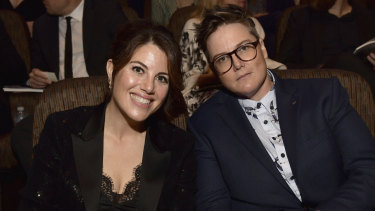 Monica Lewinsky and Hannah Gadsby at the 7th Annual Australians in Film Awards Gala.