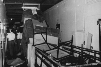 The damage at Long Bay Gaol after the riot.