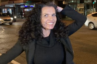 Suellen (Suzi) Jan Taylor leaves the Brisbane Magistrates Court a free woman on Thursday night.