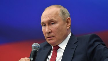 """Putin, the Russian leader, said he did not want """"militants showing up here under cover of refugees""""."""