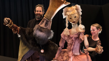 Sleeping Beauty puppeteer Christian Bagin and singer Dimity Shepherd.