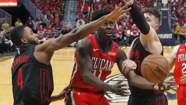 Jrue Holiday continued his hot play-offs form for the Pelicans.