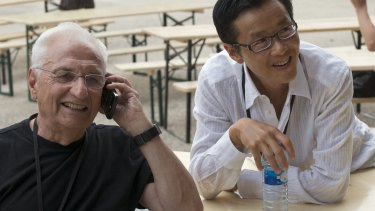 Edwin Chan with Frank Gehry.