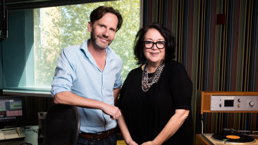Robbie Buck and Wendy Harmer in their ABC studio. The ABC Sydney pair earned their highest-ever ratings in Tuesday's first radio survey of the year.