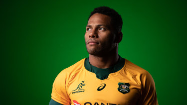 Filipo Daugunu impressed in his first appearance for the Wallabies last Sunday.
