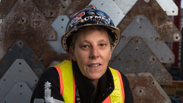 Teena Simpson, 51, is a labourer and has been in the industry for 17 years.