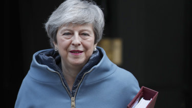 British PM Theresa May has lost three MPs who have left to join a breakaway group from Labour.
