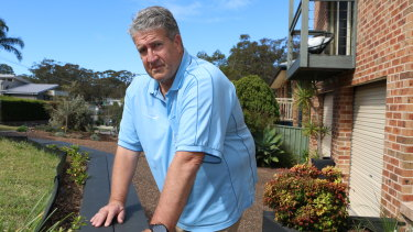 Mick Bradley, 62, has to wait until 66.5 to get the age pension.