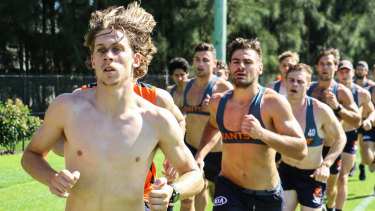 Gungahlin Jets youngster Matt McGrory led the way for the GWS Giants in their 2km time trial.