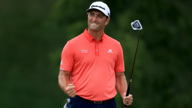Jon Rahm after securing victory in the Memorial Tournament in Ohio, a win that also took him to world No.1.