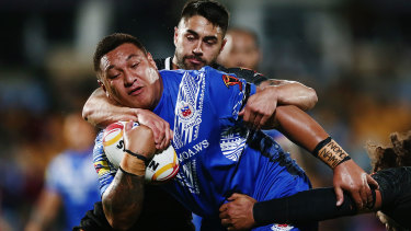 Josh Papalii played for Samoa in the 2017 World Cup but has since turned out for the Kangaroos.