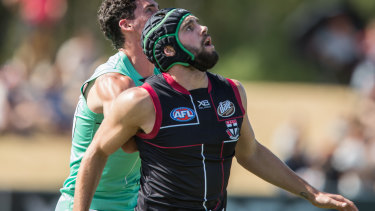 Paddy McCartin training with St Kilda in 2019.