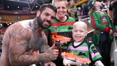 Adam Reynolds with fan Millie Trustum  after another commanding performance on Sunday.