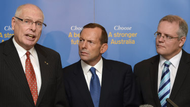 Captain's Pick: Scott Morrison is backing former Senator Jim Molan, left, to take Arthur Sinodinos' spot in the Senate