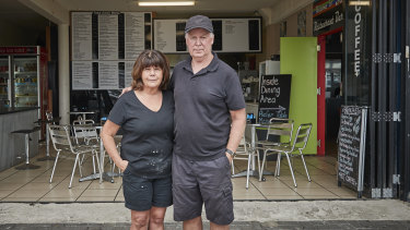 Eden cafe owners May and Geoff McCabe.