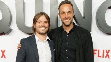 Jasper Leak, right, with fellow Australian director Alan Hicks.