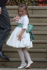 Princess Charlotte arrives for the wedding.