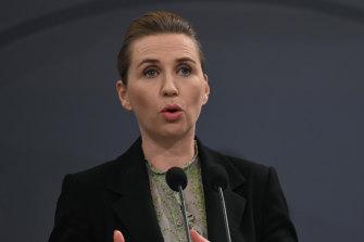 Danish Prime Minister Mette Frederiksen in Copenhagen.