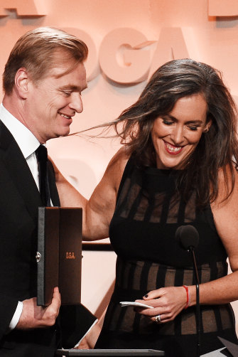 Christopher Nolan and his producer wife Emma Thomas at the Directors Guild of America awards.