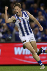 Nick Larkey goals for the Roos.