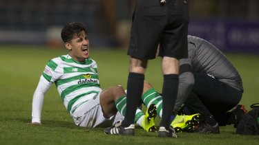 Cut up: Daniel Arzani has undergone surgery for his ACL injury.