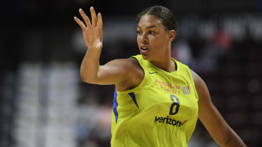 Season over: Liz Cambage.