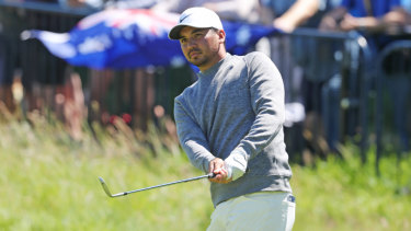 Jason Day hits Royal Portrush for a practice round.