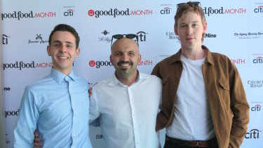 Chefs Diego Paladina (Osteria Coogee), Richard Ptacnik (OTTO) and Simon Drolz-Cox (10 William St).