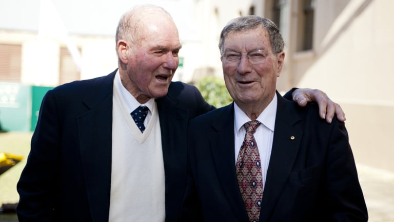 Great mates: Thomson (right) and Kel Nagle.