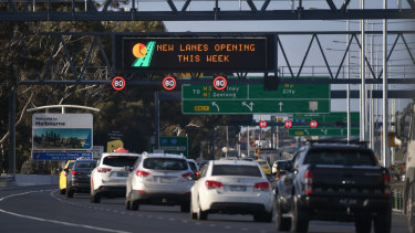 New lanes have made the Tullamarine Freeway less congested.