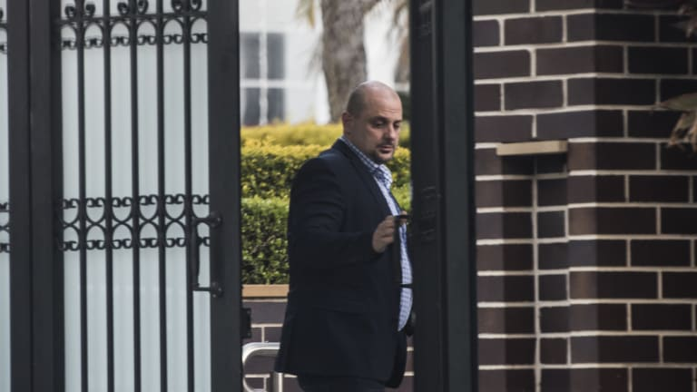 Canterbury-Bankstown councillor George Zakhia, who sits on the board of a Maronite affordable housing project, attending Bishop Tarabay's Strathfield home.