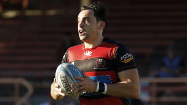 Norths star winger Richard Woolf was sidelined early with a head knock.