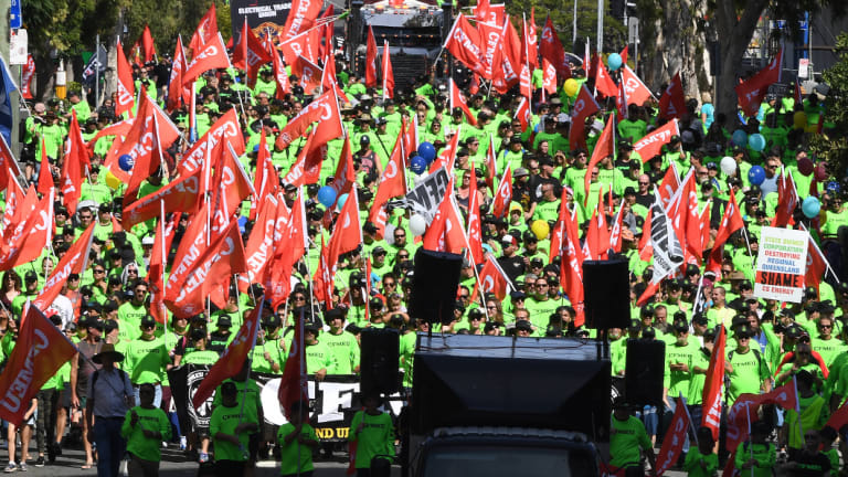 Taking to the Brisbane street for the 2017 Labour Day March.